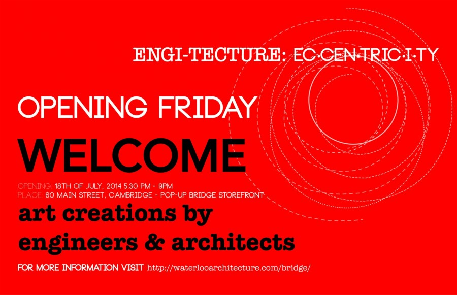 Engi-Tecture Art Show Opening Friday!