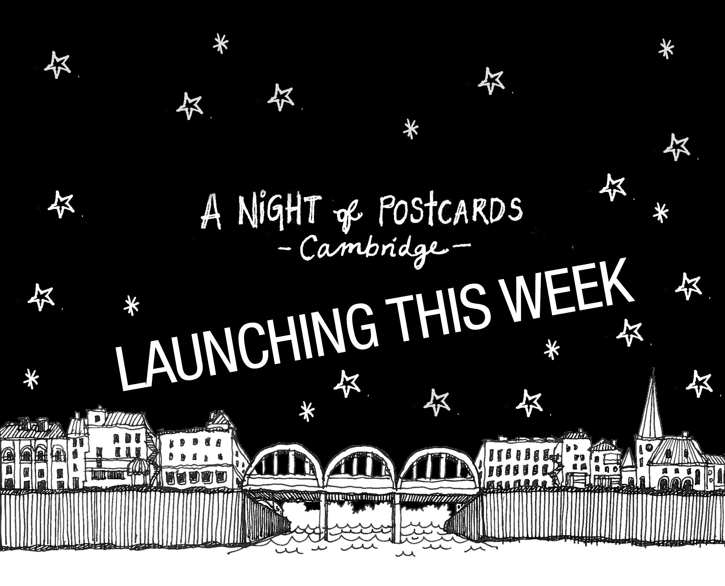 a night of postcards cambridge launch!