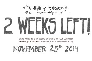 Countdown to A Night of Postcards – Cambridge