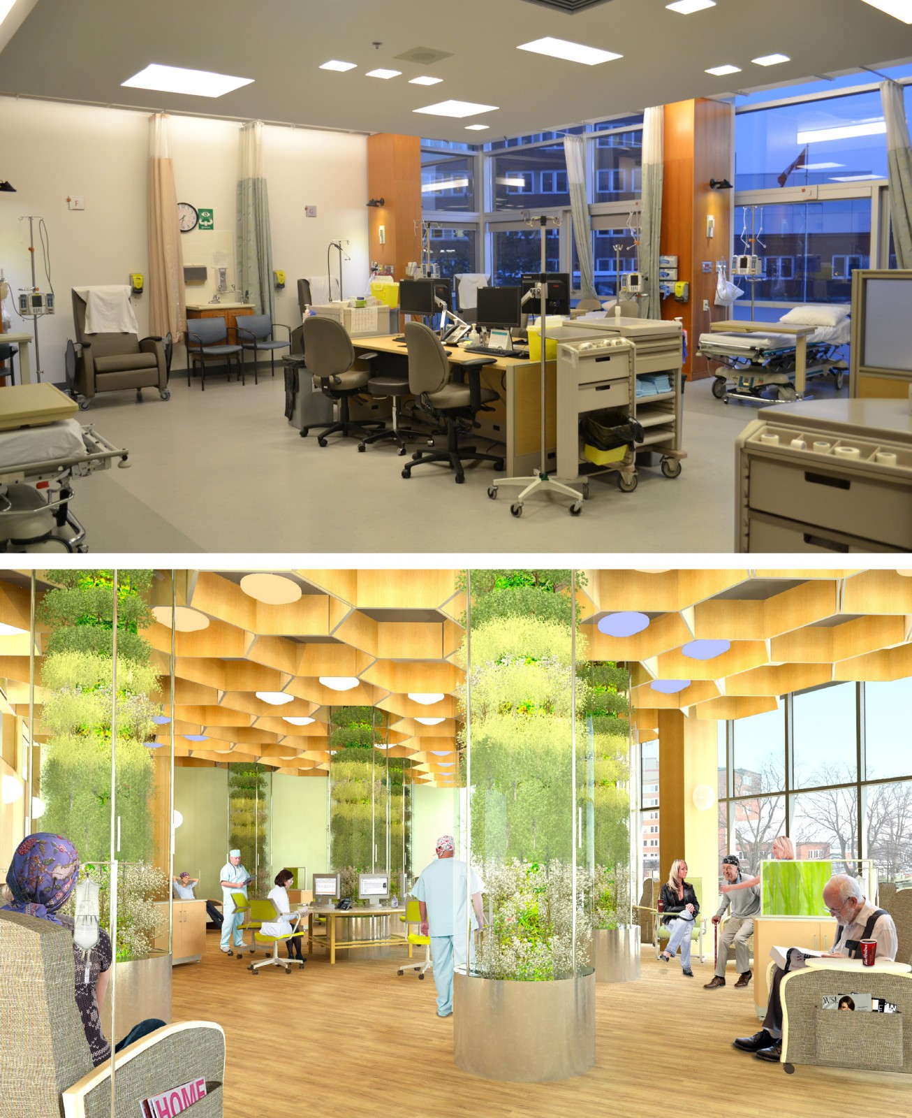 Beggs - Chemo Suite Before and After