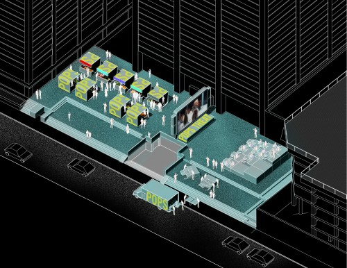 Axonometric of the Networked Public Commons