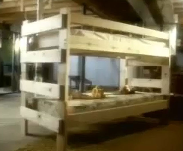 The bunk bed was alleged by some to be the source of this haunting.